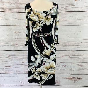 White House Black Market floral with pink stretchy